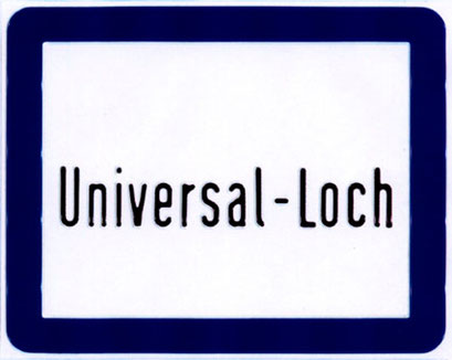 universal loch, aluminium blechprägedruck, 1998 berlin, 20x25cm