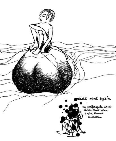 Tobi my friend, arbeitsbegleitende gedankenskizze, copyright chantal labinski 2013