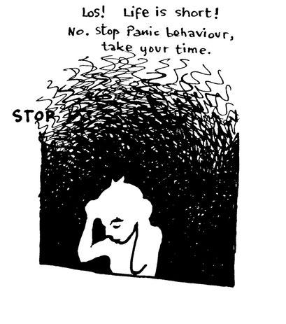 panic, , arbeitsbegleitende gedankenskizze, copyright chantal labinski 2013