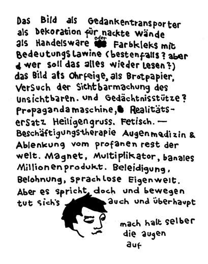 denk doch selbst, faule sau, arbeitsbegleitende gedankenskizze, copyright chantal labinski 2013