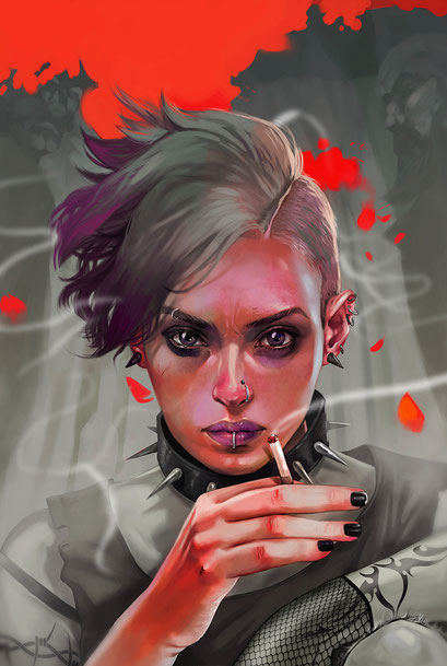 "Lisbeth Salander - variant cover for ""Millennium: The girl who kicked the hornet's nest"" / © Titan Comics"