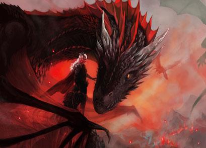 Daenerys and Drogon (Game of Thrones, fanwork)