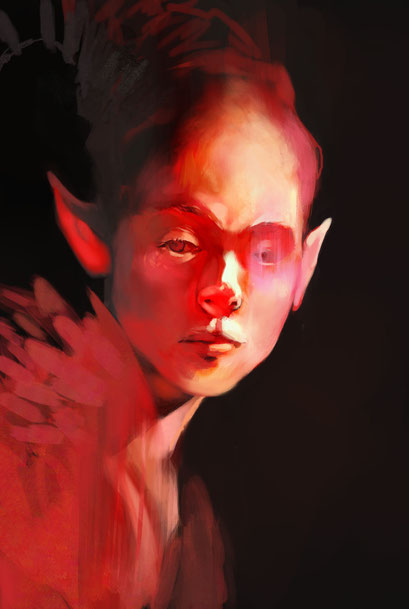 """Fire elf"", personal illustration"