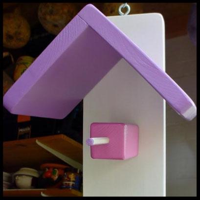 Pindakaas pot houder in lavendel kleur  met wit (1)