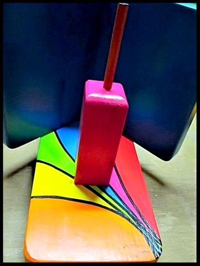 """Detail  Pindakaas pot houder """"Regenboog- Collectie""""_12"""