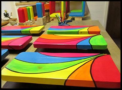 """Detail  Pindakaas pot houder """"Regenboog- Collectie""""_3"""