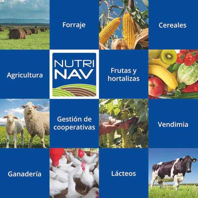 Cartel de 1000 x 1000 mm para AYANET presentando su producto NUTRINAV para la FIMA 2014