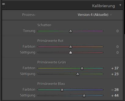 Kalibrierung HDR Preset 2 für Lightroom