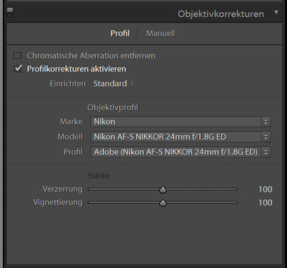 Objektivkorrekturen HDR Preset 2 für Lightroom