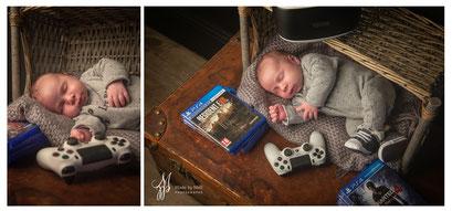 Séance photo nouveau-né toulouse, photographe bébé toulouse, photo bébé geek