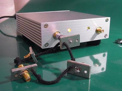 Port1 に SHORT標準器を接続して CAL する様子