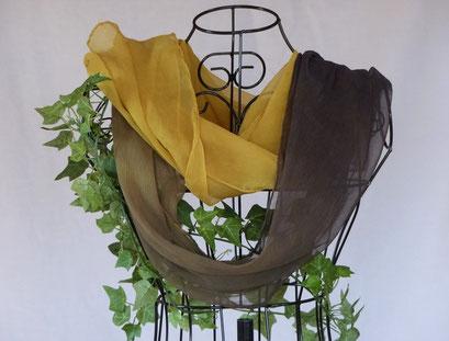 MESSING-langer Schal aus Crincelchiffon