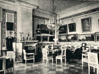Красная гостиная в доме князя М. М. Голицына