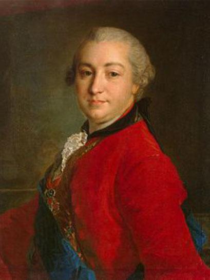 Иван Иванович Шувалов в 1760, портрет кисти Фёдора Рокотова. Государственный Эрмитаж (Санкт-Петербург)