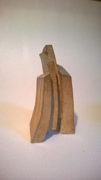 Sculpture grès noir cuisson four à bois -Noborigama- de Juan José Ruiz   Artiste/Auteur Sculpteur céramiste dit Caco Avril 2019