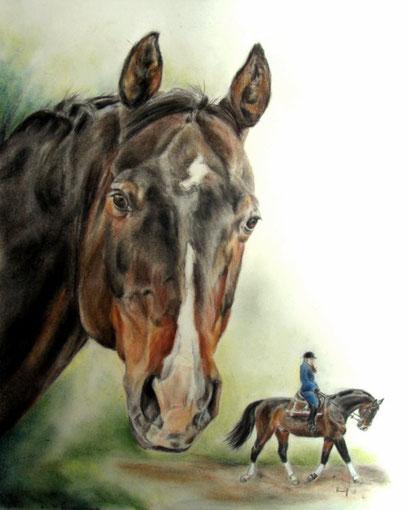 Pferdeportrait als Doppelportrait