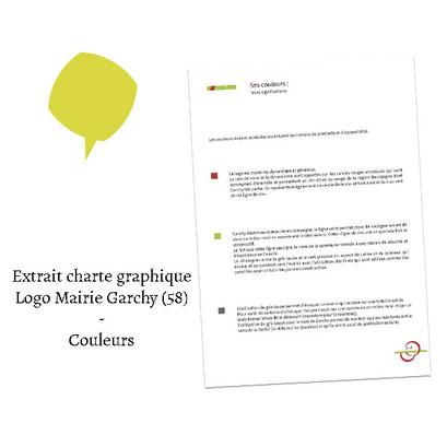 Extrait charte graphique couleurs - (Logo Mairie Garchy 58)