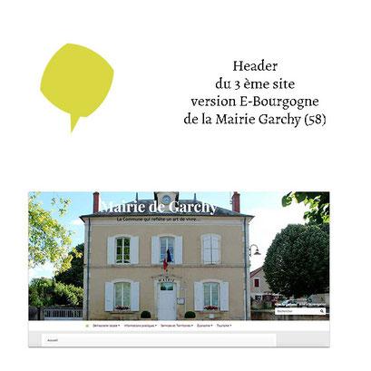 Header du 3ème site de la Mairie de Garchy (58) via E-Bourgogne