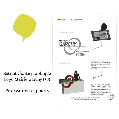 Extrait charte graphique propositions supports - (Logo Mairie Garchy 58)