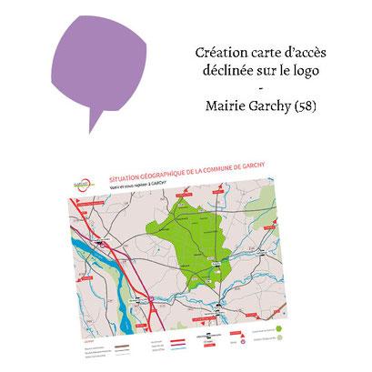 Création carte d'accès déclinée du logo - (Logo Mairie Garchy 58)