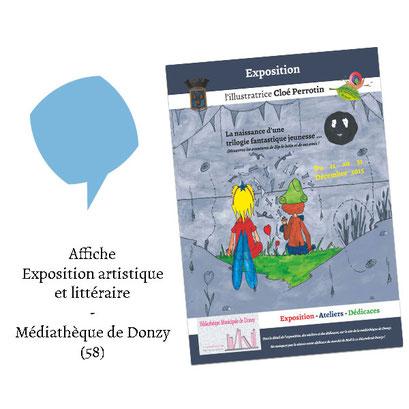Affiche Exposition artistique et littéraire - (Médiathèque Donzy 58)