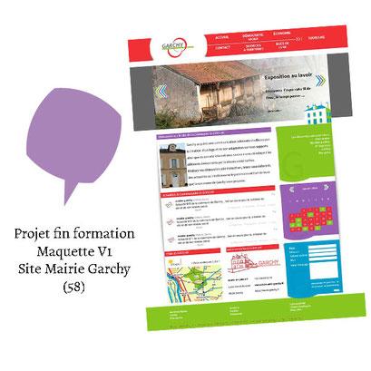 Projet de fin de formation - Logo et maquette non retenue site mairie Garchy (58)