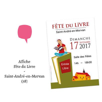 Affiche Fête du Livre - (Saint-André-en-Morvan 58)