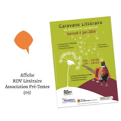 Affiche RDV Littéraire - (Association Pré-Textes 03)
