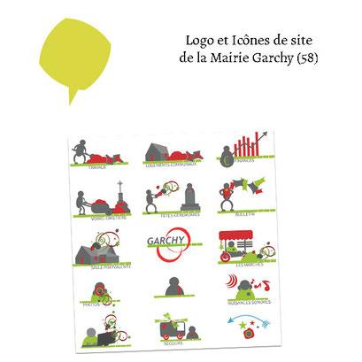 Logo et icônes de site de la Mairie de Garchy (58)