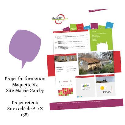 Projet de fin de formation - Logo et maquette retenue site mairie Garchy (58)