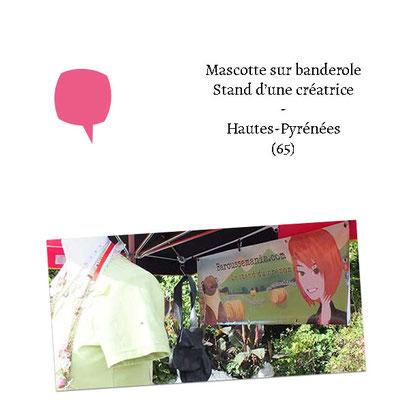 Mascotte sur banderole - (Créatrice Baroussemania 65)