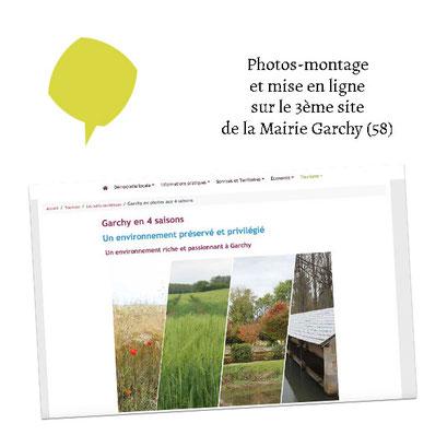 Photos-montage sur le 3ème site de la Mairie de Garchy (58) via E-Bourgogne