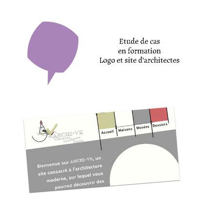 Étude de cas en formation - Logo et site d'architectes