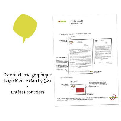 Extrait charte graphique courriers entête - (Logo Mairie Garchy 58)