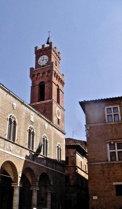 Palazzo Comunale, town hall, Pienza, Val d'Orcia, Siena, Italy, Toscana, Tuscany