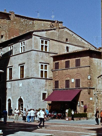 Piazza Piccolomini, Pienza, Val d'Orcia, Siena, Italy, Toscana, Tuscany