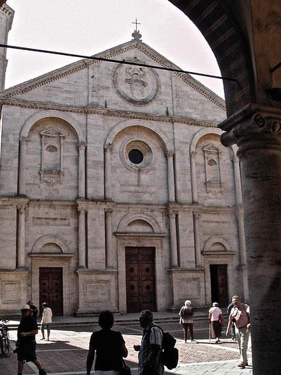 Duomo, cathedral, Pienza, Val d'Orcia, Siena, Italy, Toscana, Tuscany