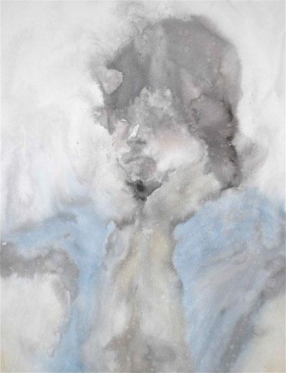 「ドローイング3」P15号 墨/水彩紙 (2010年)