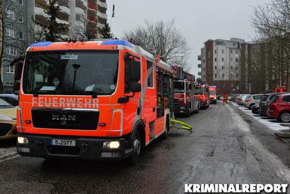 Feuerwehr am Einsatzort.|Foto: Dennis Brätsch
