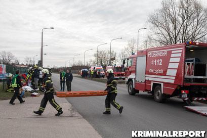 Feuerwehr im Großeinsatz.|Foto: Christopher Sebastian Harms