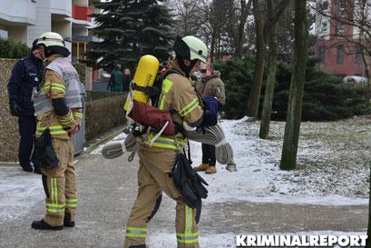 Die Feuerwehr löschte den Brand.|Foto: Dennis Brätsch