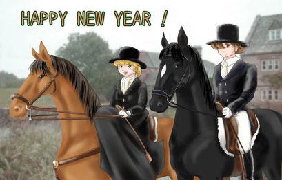 お正月と言うことで正装で騎乗