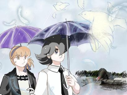 8/6  HIROSHIMA Day  43年ぶりの雨の式典でした。