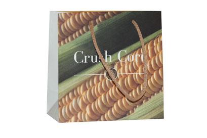 Taschen aus nachhaltigem Material Tasche aus Korn Mais Papier bedruckt im Offset