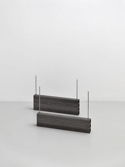 o.T. (I 17-2019) Steel square tubes, 12/16x50x4cm