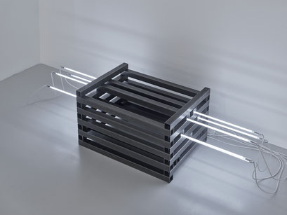 o.T. (I 16-2017/2018) Steel square tubes, neon systems, neon 160cm