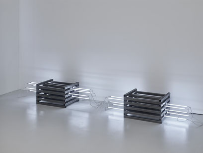 o.T. (I 16-2017/2018) Steel square tubes, neon systems, neon 160cm, dimension variable