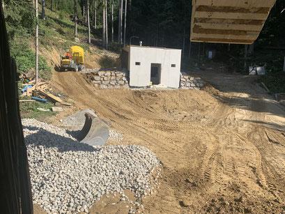Steinschlichtung mit Bagger Ferndorf Spittal an der Drau