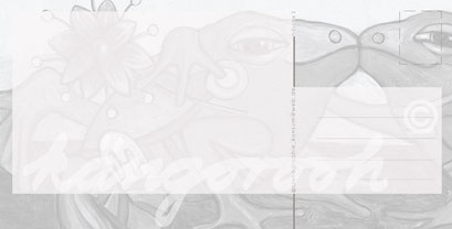 Postkarte Rückseite : liebhaberin / kängorooh / 2015