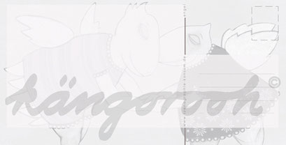 Postkarte Rückseite: die engelinnen /kängorooh/ 2016